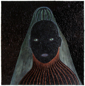 'buella'   acrylic on canvas-panel   30 x 30 cm.